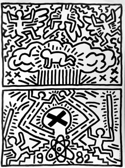 Keith Haring, 'Keith Haring 1982 poster for Nuclear Disarmament (Keith Haring prints)', 1982