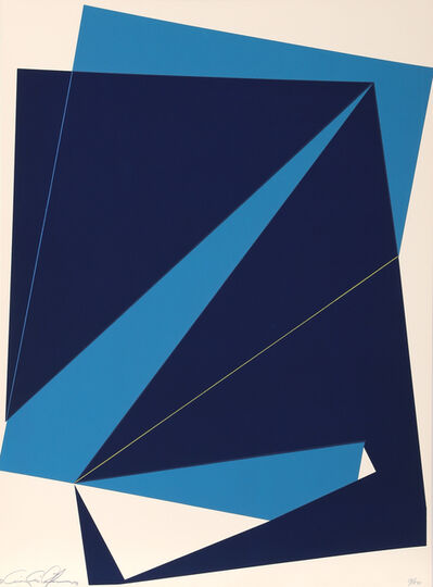 Cris Cristofaro, 'Untitled - Navy and Light Blue Rectangles ', 1978