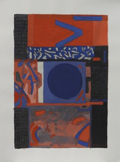 Gabriel Godard, 'Composition in red and blue', 2007