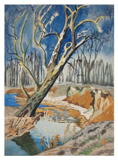 Charles Ephraim Burchfield, 'Tree and Brook', ca. 1917