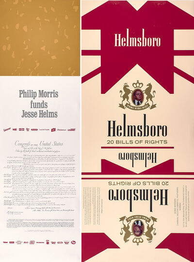 Hans Haacke, 'Helmsboro Country (unfolded) (diptych)', 1990