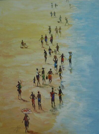 Godwin Adjei Sowah, 'Tuesday at the beach', 2019