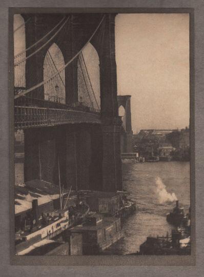 Alvin Langdon Coburn, 'Brooklyn Bridge, From a Roof-top', Neg. date: 1909 c. / Print date:1909