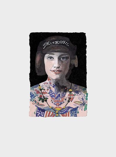 Peter Blake, 'Tattooed People, Grace', 2015
