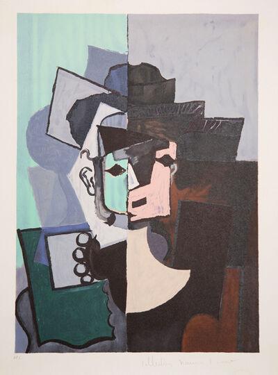 Pablo Picasso, 'Portrait de Face sur Fond Rose et Vert, 1917', 1979-1982