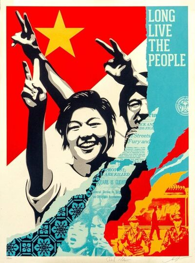 Shepard Fairey, 'Long Live the People', 2020