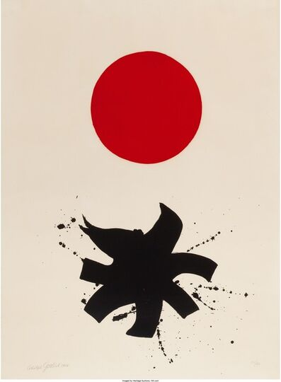 Adolph Gottlieb, 'White Ground Red Disk', 1966