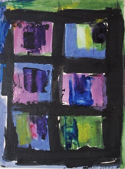 Dusti Bongé, 'Untitled (Black Grid with Purple, Blue and Green)', 1975
