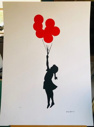 Banksy, 'Flying Red Balloon Girl', 2019