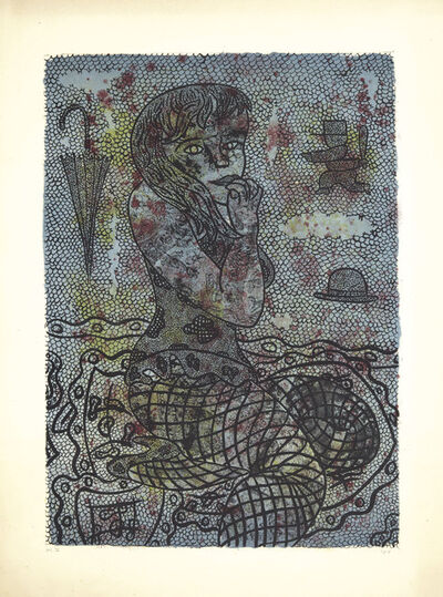 William Nelson Copley, 'Woman with a Fishnet', 1962
