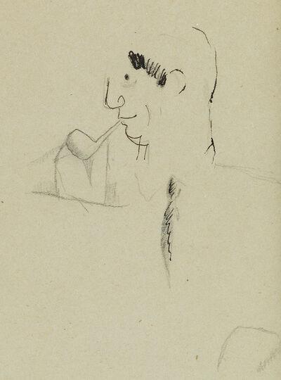 Jean Cocteau, 'Portrait de Pablo Picasso à la Pipe en profil.', circa 1917