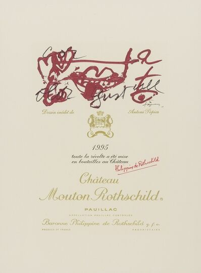 Antoni Tàpies, 'Chateau Mouton Rothschild Pauillac wine label', 1995
