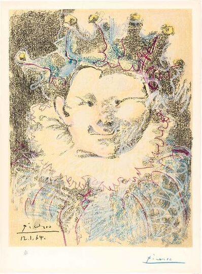 Pablo Picasso, 'Harlequin', 1964