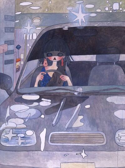 Aya Takano, 'Drive with a Night Dog *'