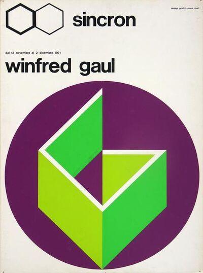 Winfred Gaul, 'Bozzetto Sincron', 1971