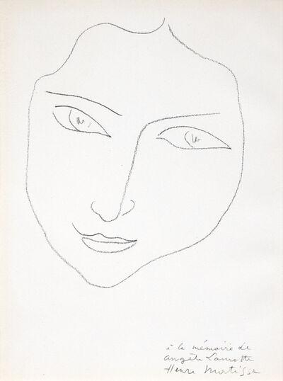 Henri Matisse, 'A La Memoire d'Angele Lamotte'