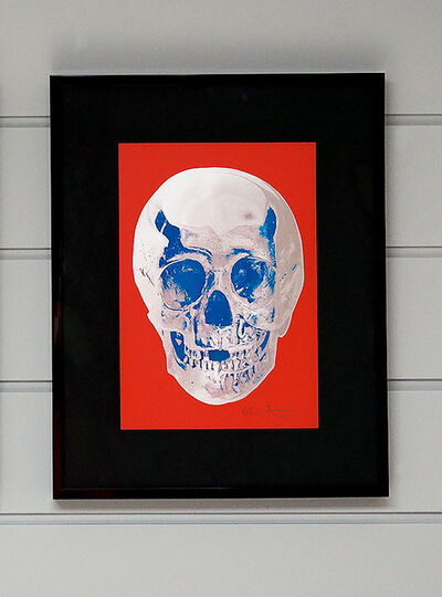Damien Hirst, 'Skull, Red/Silver', 2012