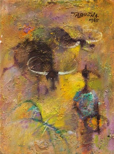 Romeo Tabuena, 'Campesina Con Dos Carabaos (Peasant With Two Carabaos)', 1965