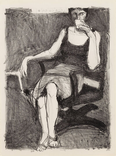 Richard Diebenkorn, 'Seated Woman Drinking from a Cup', 1965