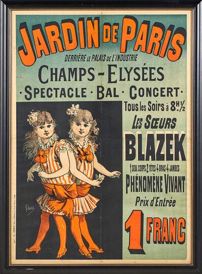Jules Chéret, 'Jardin de Paris - Les Souers Blazek', 1884