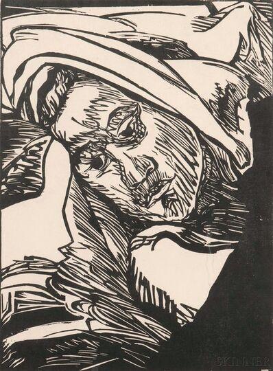 Erich Heckel, 'Frauenkopf', 1947