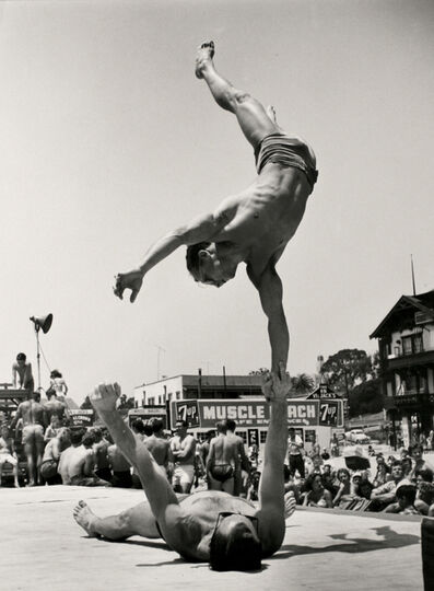 Larry Silver, 'Two Men Doing a Handstand', 1954