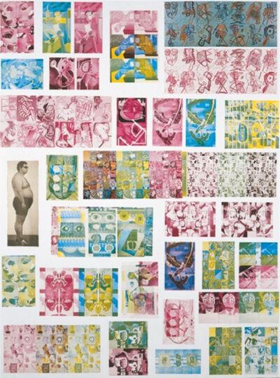 Luis Gordillo, 'Estudio sobre pruebas de imprenta de un catálogo', 1981