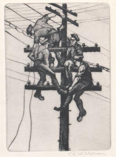 Christopher Richard Wynne Nevinson, 'Nerves of an Army', 1918