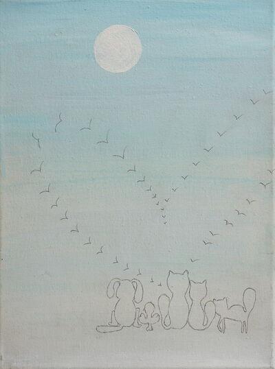 Fernanda Laguna, 'Atardecer de gaviotas', 1999