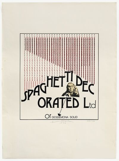 Henri Chopin, 'Spaghetti Decorated Ltd', 1974