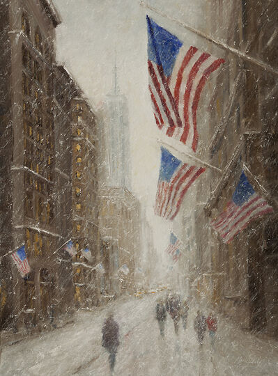 Mark Daly, 'Empire Flags in Snow'
