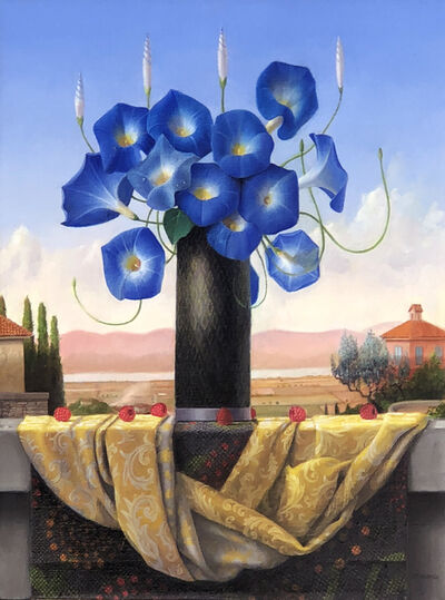 James Aponovich, 'Still Life with Morning Glories and Berries', 2021