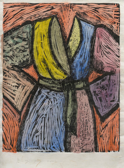 Jim Dine, 'Woodcut in Paris and Tokyo', 2003