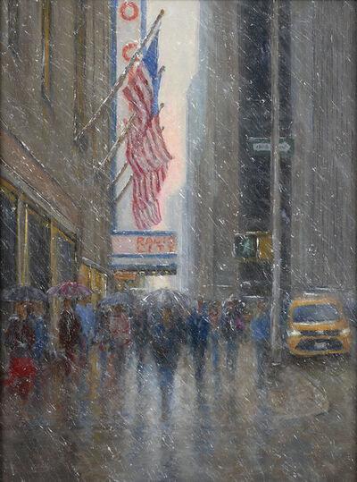 Mark Daly, 'Radio City Music Hall, First Snow', 2021