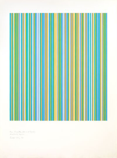 Bridget Riley, 'Three colours (Blue, Yellow and Turquoise) Precipitating Magenta ', 1982