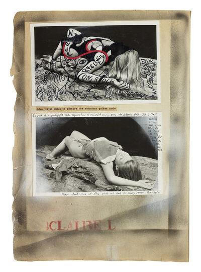 Dan Eldon, 'Nude Reclining on Rock', 1988-printed 2018