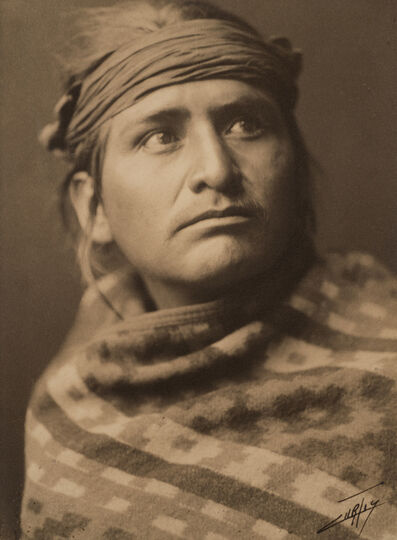 Edward Sheriff Curtis, 'A Chief of the Desert ', 1904