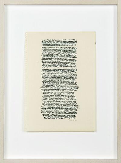 Irma Blank, 'Eigenschriften', 1970