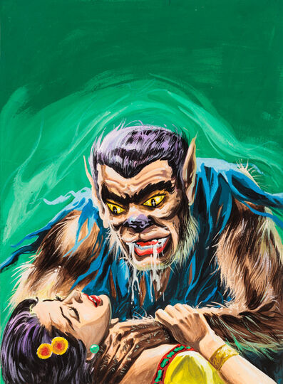 'Untitled (Werewolf man strangling woman)', c. 1960-75