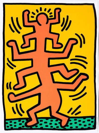 Keith Haring, 'Growing I', 1988