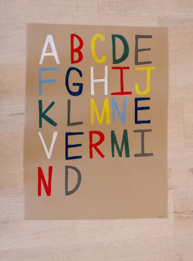 Mick Burson, 'apathetic alphabet. ', 2019