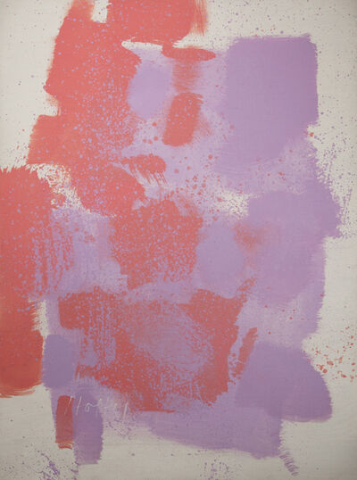 Carl Holty, 'Untitled #58 (Red, Purple, White)', 1970