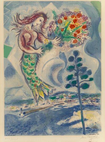 After Marc Chagall, 'Sirène au pine, from Nice et la Côte d'Azur', 1967