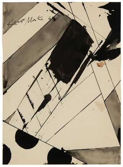"Knox Martin, 'Study for a painting called ""Edge""', 1964"