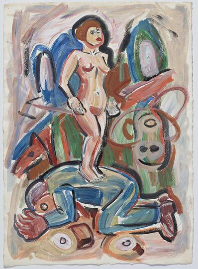 Viola Frey, 'Untitled (Nude Woman on Lying Man)', 1985