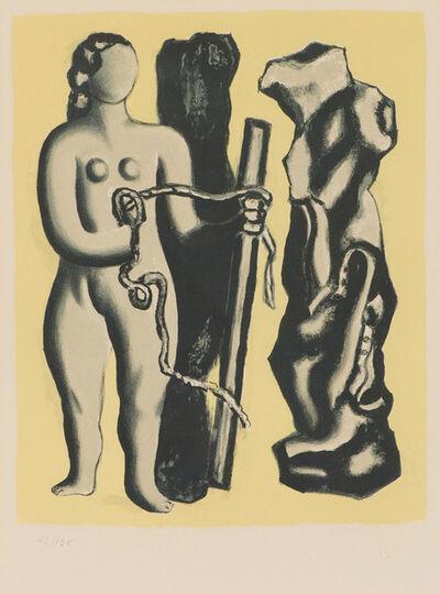 Fernand Léger, 'Femme Sur Fond Jaune (S. 118)', 1952