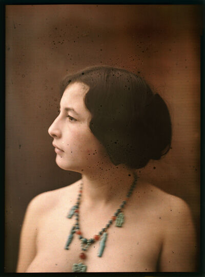 Mante & Goldschmidt, 'Profile of Female Nude with Jewelry', 1910c/1910c