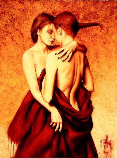 Saturno Butto, 'Figure Abbracciate', 2005