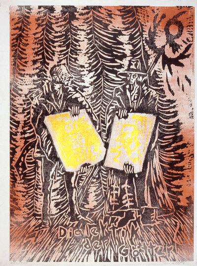 "Jörg Immendorff, 'Dialektik der Götter (from the portfolio ""For Joseph Beuys"")', 1986"