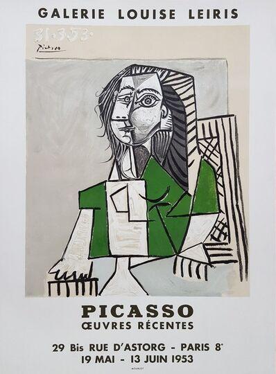 Pablo Picasso, 'Oeuvres Recentes, Galerie Louise Leiris', 1953